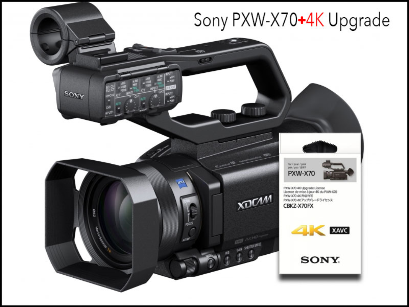 Sony PXW-X70 com upgrade 4K