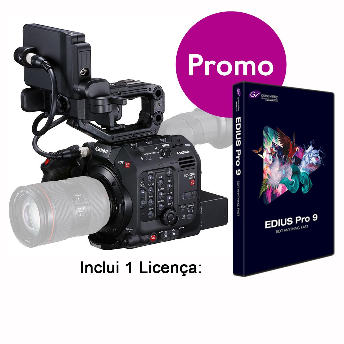 Canon EOS C500 Mark II inclui EDIUS X