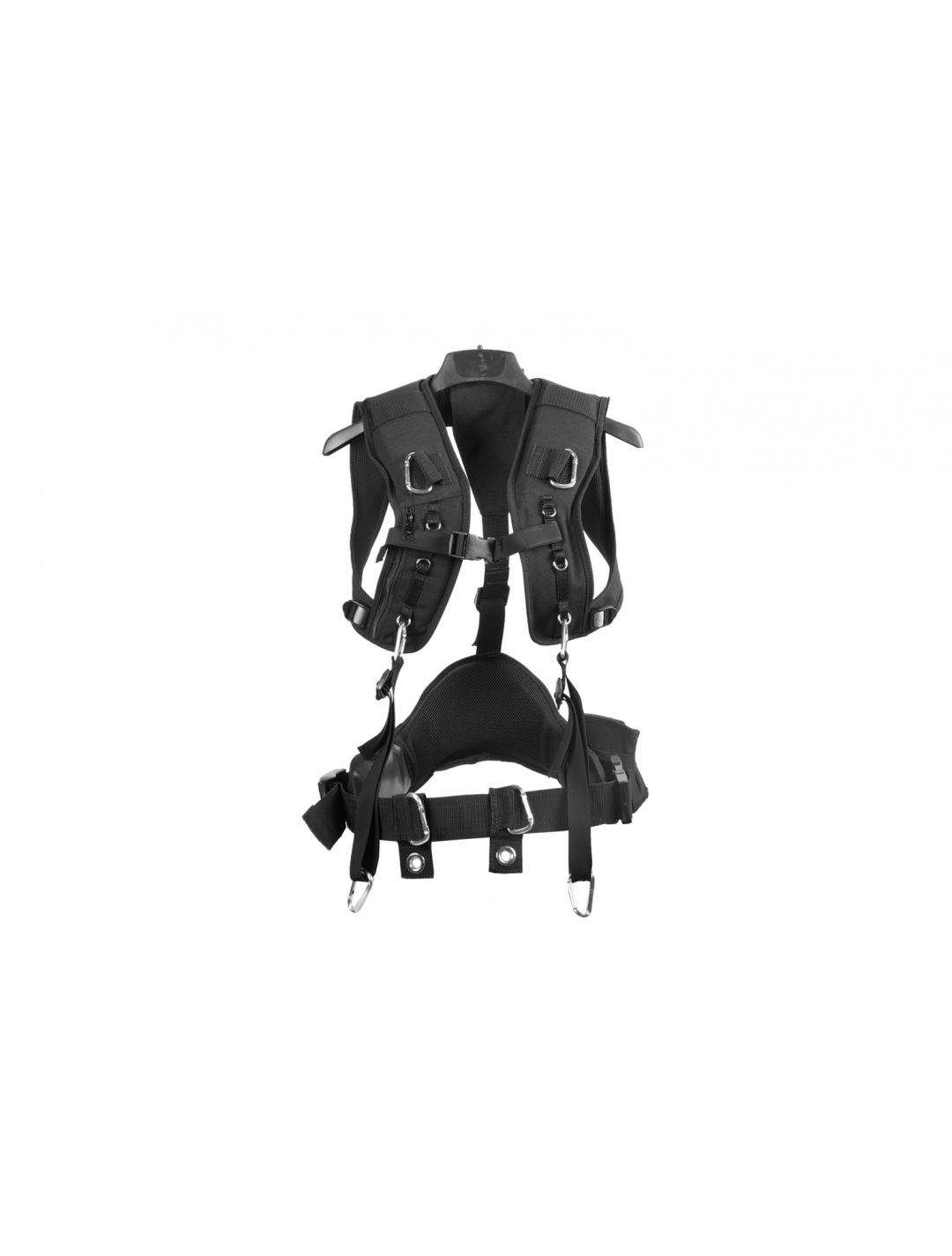 Porta Brace AH-3H-MEMS Audio Harness, Heavy Duty Paddes Straps, Small, Black