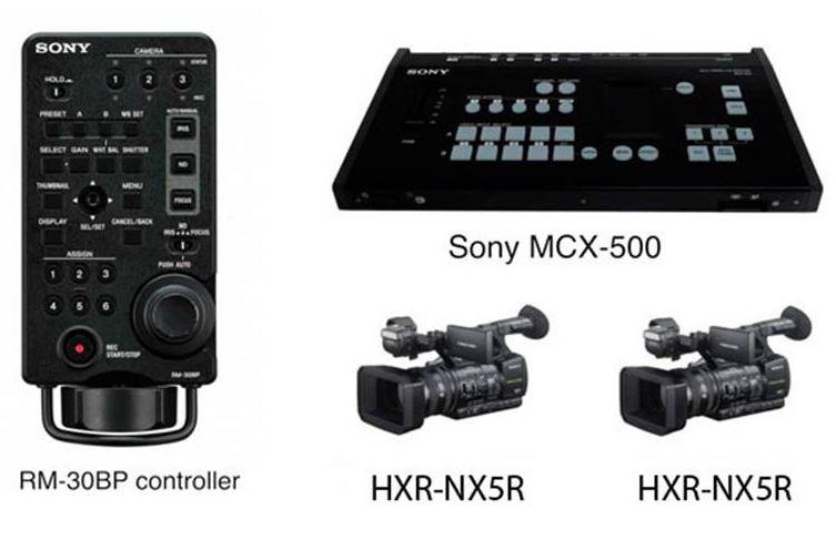 Sony Bundle Mesa de Mistura MCX-500 + Comando RM-30BP + 2 HXR-NX5R