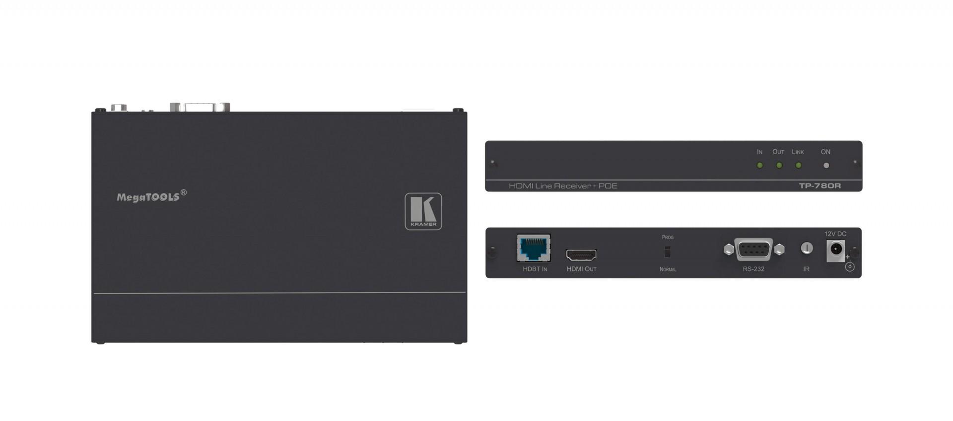 Kramer TP-780R - 4K60 4:2:0 HDMI HDCP 2.2 PoE Receiver