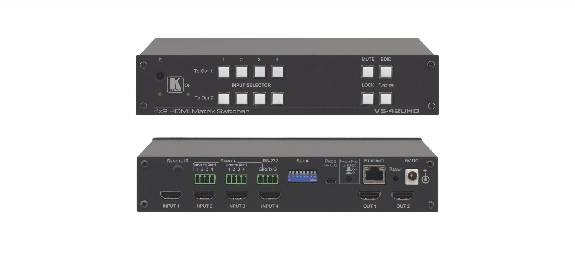Kramer VS-42UHD 4x2 4K60 4:2:0 HDMI Automatic Matrix Switcher
