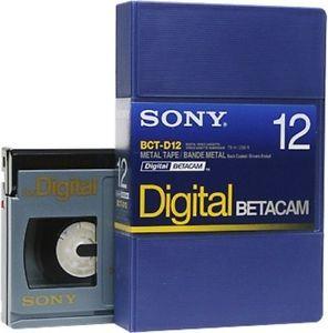 Sony Cassete Betacam Digital BCT-D12- Caixa 10 unids