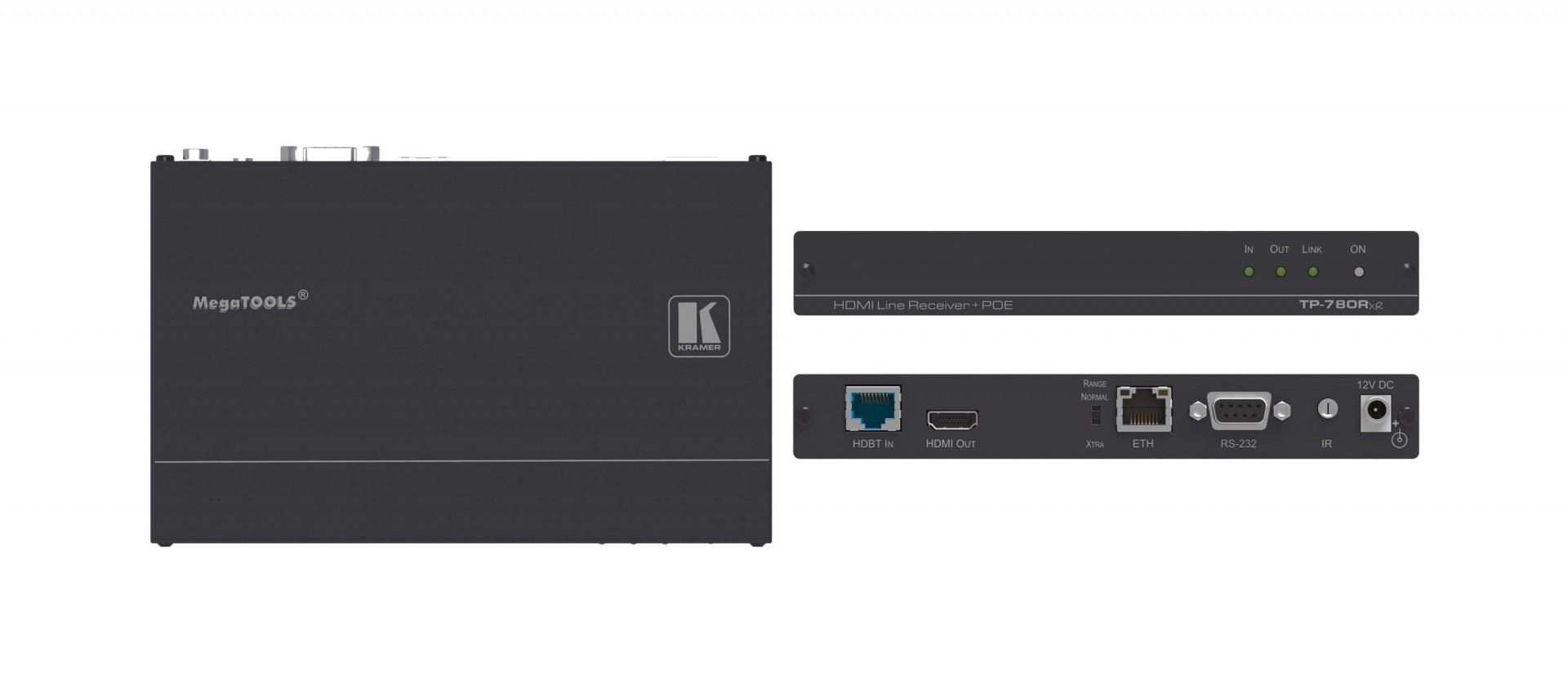 Kramer TP-780Rxr - 4K60 4:2:0 HDMI HDCP 2.2 PoE Receiver