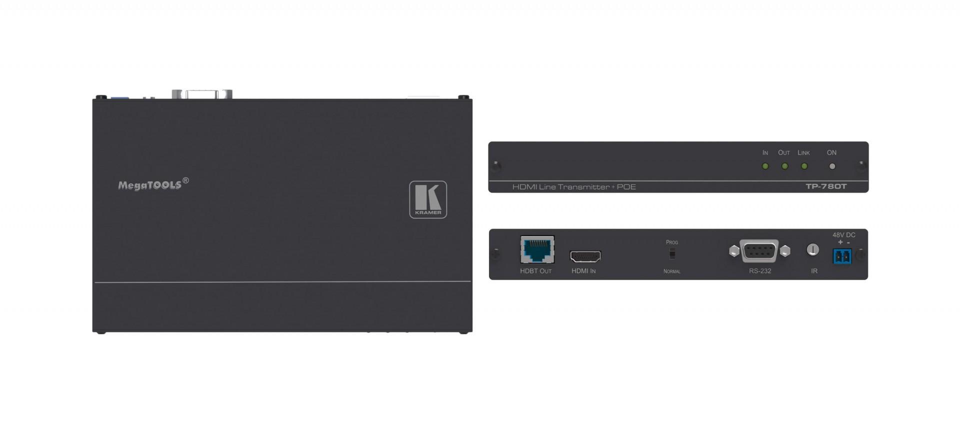 Kramer TP-780T -  4K60 4:2:0 HDMI HDCP 2.2 PoE Transmitter