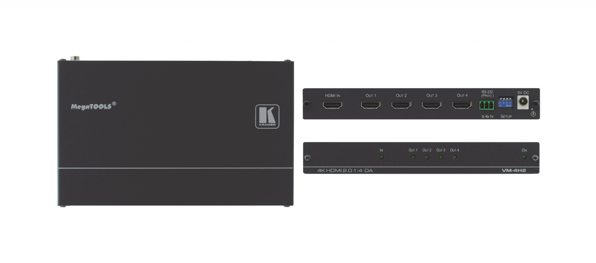 Kramer VM-4H2 1:4 4K HDR HDMI distribution amplifier