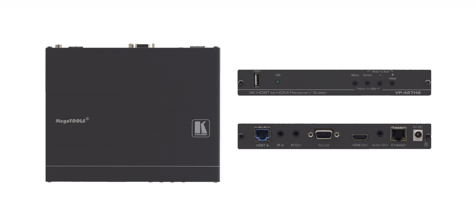 Kramer VP-427H2 4K60 4:4:4 HDMI HDCP 2.2 Receiver/Scaler over Extended–Reach HDBaseT