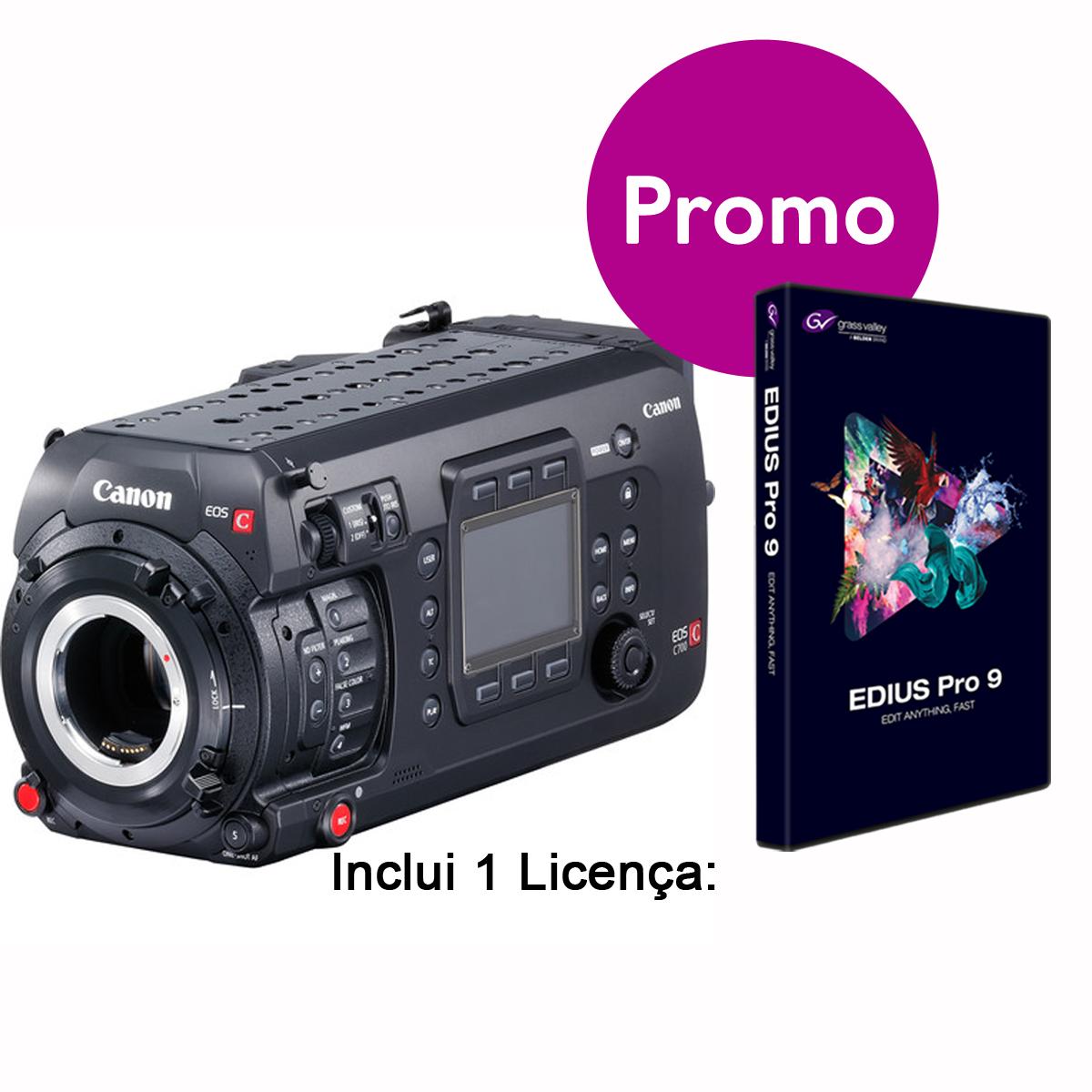 Canon EOS C700 FF inclui EDIUS PRO9