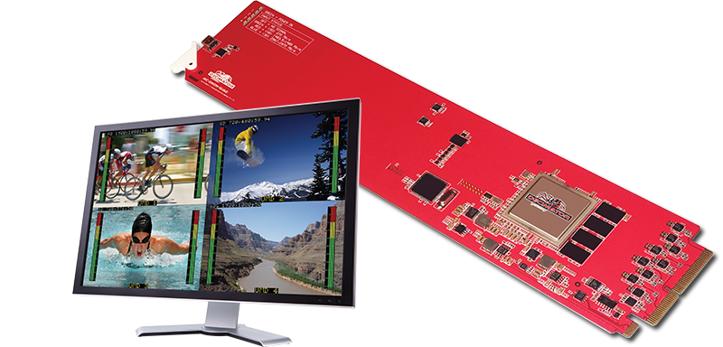 Decimator MC-DMON-QUAD: openGear 4 Channel Multi-viewer with SDI outputs for 3G/HD/SD