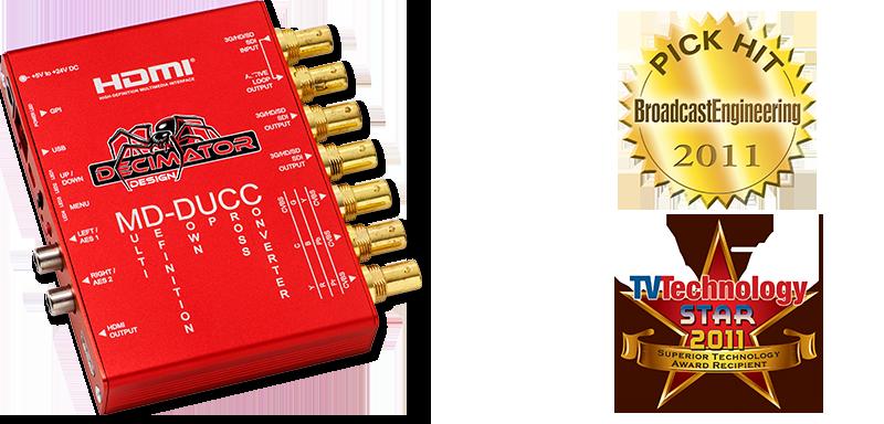 Decimator MD-DUCC: Multi-Definition Up Down Cross Converter