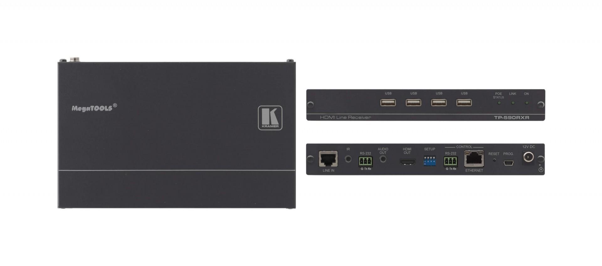 Kramer TP-590RXR - 4K60 4:2:0 HDMI PoE Receiver