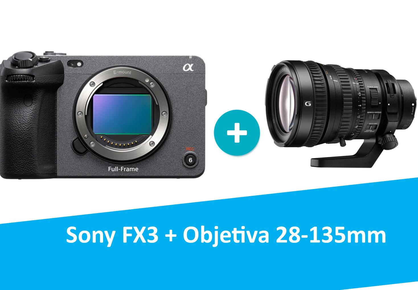Sony FX3 + Objetiva Sony 28-135mm