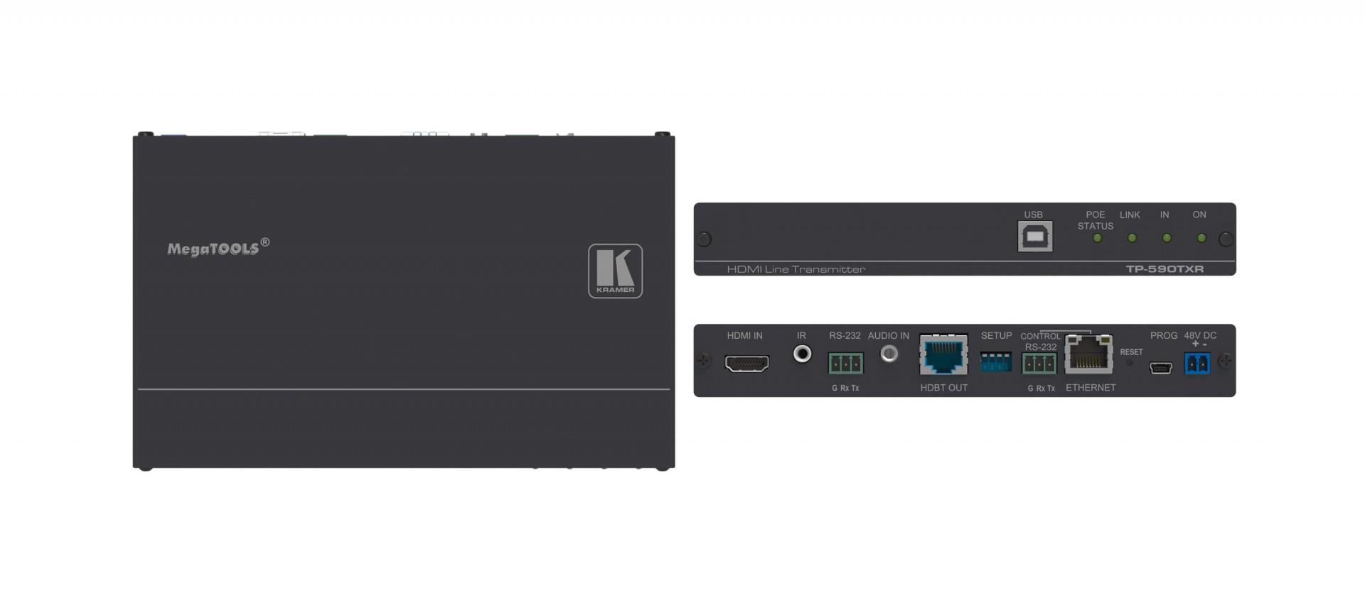 Kramer TP-590TXR - 4K60 4:2:0 HDMI PoE Transmitter