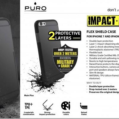 iPhone 6/6S Capa Flex Shield Impact-PRO Puro