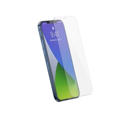 (Pack 2) Películas Protecção em Vidro Temperado Baseus Full-Glass para iPhone 12/12 Pro