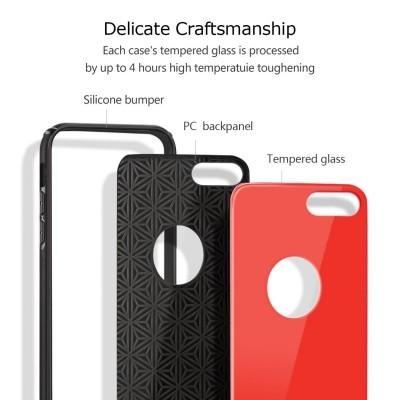 iPhone 7/8 Plus Capa Shinny Vidro Temperado
