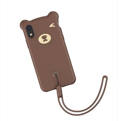 Capa Silicone Baseus Bear para iPhone XR