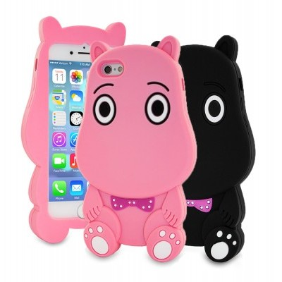 iPhone 7/8 Capa 3D Silicone Hippo