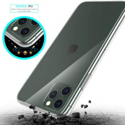 iPhone 11 Pro Capa Ultra-Fina Silicone Transparente