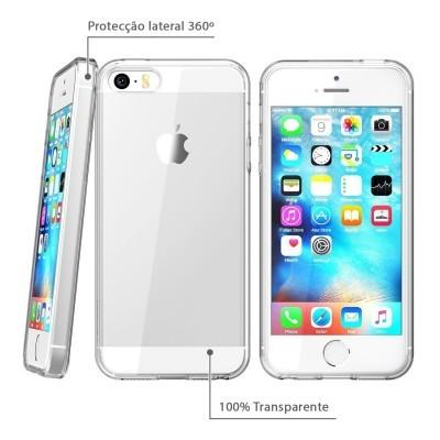 iPhone 5/5S/SE Capa Silicone iPaky Effort + Vidro Temperado