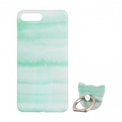 iPhone 7/8 Plus Capa Maoxin Green Rock (Capa + Ring Holder + Notebook + Estojo)