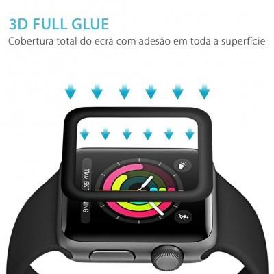 Películas de Protecção de Ecrã em Vidro Temperado 3D Full Glue Apple Watch Series 1/2/3 - 38mm