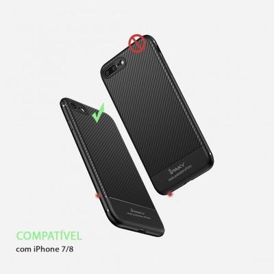 iPhone 7/8 Capa Carbono iPaky