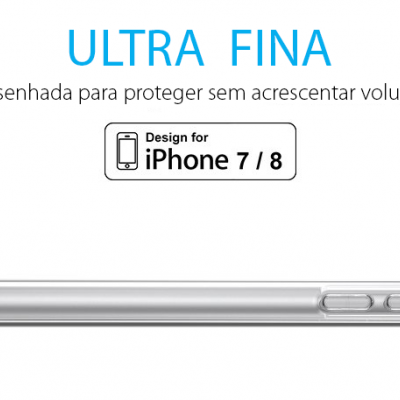 iPhone 7/8 Capa Ultra-Fina Silicone Transparente