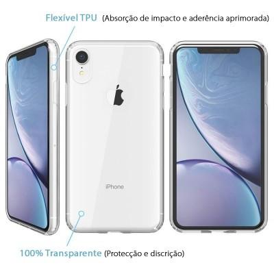 iPhone XR Capa Silicone iPaky Effort + Vidro Temperado