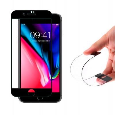 Películas de Protecção de Ecrã em Vidro Temperado 5D Full Nano Flex HD iPhone 7/8 Plus
