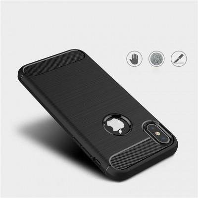 iPhone XR Capa Silicone Carbono Híbrida