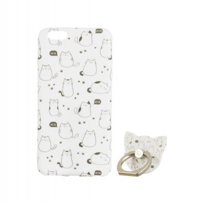 iPhone 7/8 Plus Capa Maoxin Meow (Capa + Ring Holder + Notebook + Estojo)