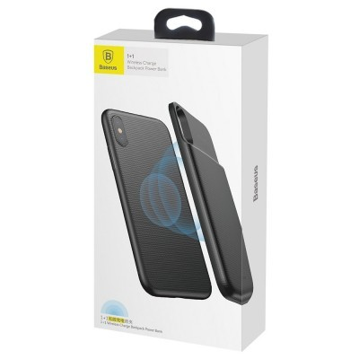 iPhone X/XS Capa Fina + Bateria Externa Baseus 1+1 (Wireless Charging)