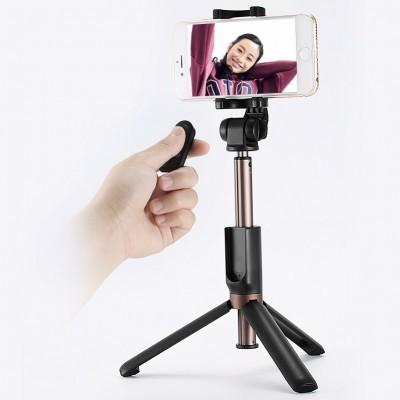 Selfie Stick + Tripod com controlo Bluetooth (amovível) Remax P9 2W1