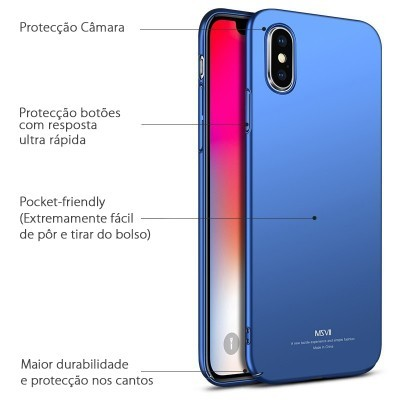 iPhone X Capa Ultra-Fina Frosted (As capas rígidas mais finas do mercado)