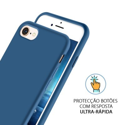 iPhone 7/8 Capa Silicone Rígido Premium Rubberized OEM