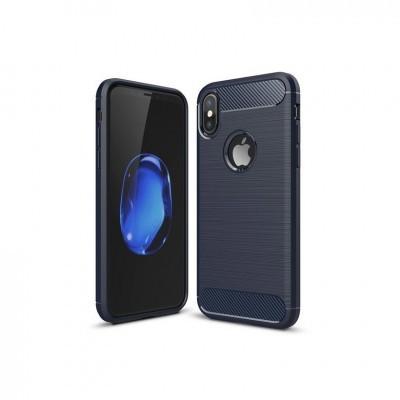 iPhone X/XS Capa Silicone Carbono Híbrida