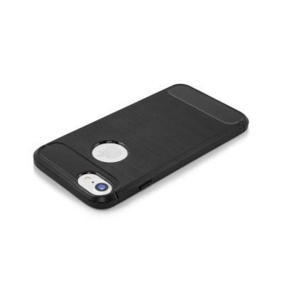 iPhone 5/5S/SE Capa Silicone Carbono Híbrida