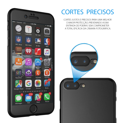 iPhone 7/8 Plus Capa Slim 360º + Vidro Temperado