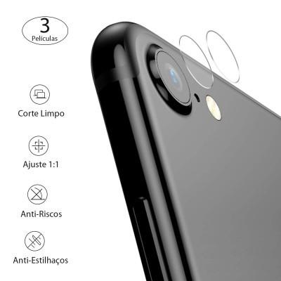 Películas de Protecção de Câmara Traseira (Pack 3) em Vidro Temperado iPhone 7/8