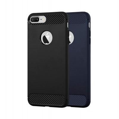 iPhone 7/8 Plus Capa Silicone Carbono Híbrida