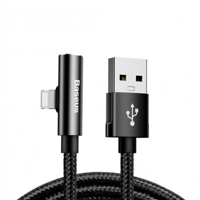 Cabo Lightning para USB c/ Adaptador Audio Baseus Nylon Rythm Bent