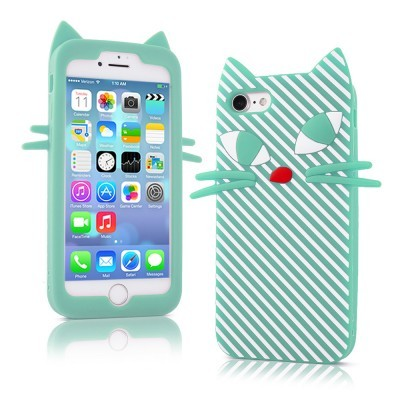iPhone 6/6S Capa 3D Silicone Kitten