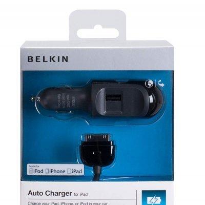 Carregador de isqueiro USB Belkin 2.1A + Cabo 30 Pinos