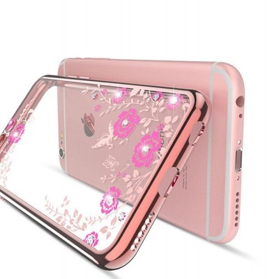 iPhone 7/8 Capa Silicone Flower Bling