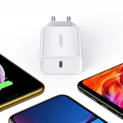 Adaptador de corrente Ugreen USB-C 18W Quick Charge 4.0