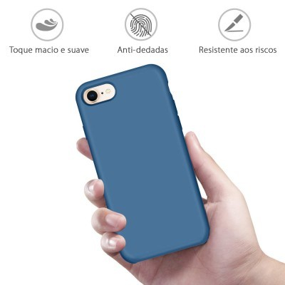 iPhone 7/8 Plus Capa Silicone Rígido Premium Rubberized OEM