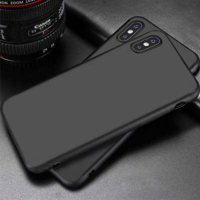 iPhone XS Max Capa Fina Silicone Preto Mate