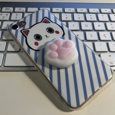 iPhone 6/6S Capa Silicone 4D Squishy Paw