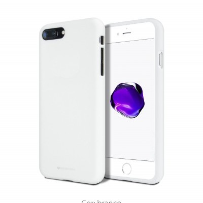 Capa Fina Silicone Soft Feeling Goospery para iPhone SE